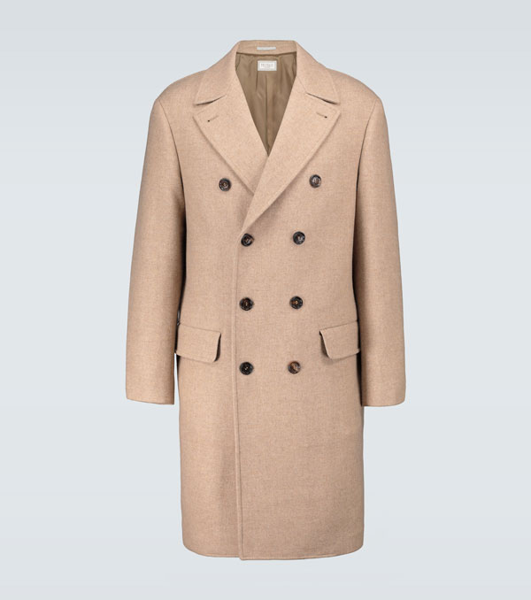 Long Wool Coat With Olive Green Pants