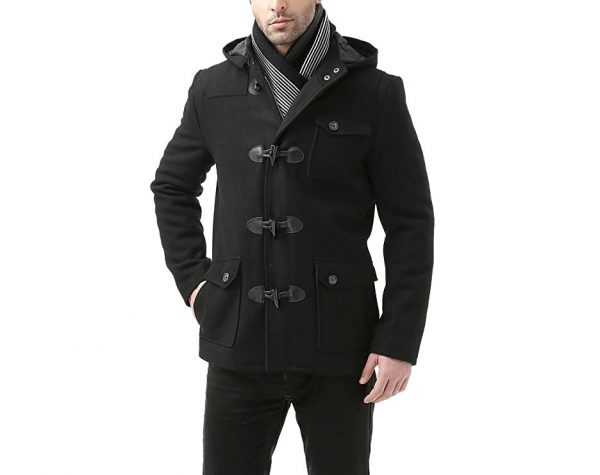 Black Hoodie, Grey Pea Coat Wool