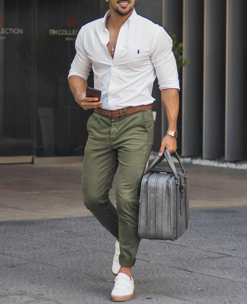 How to Style Olive Green Pants?